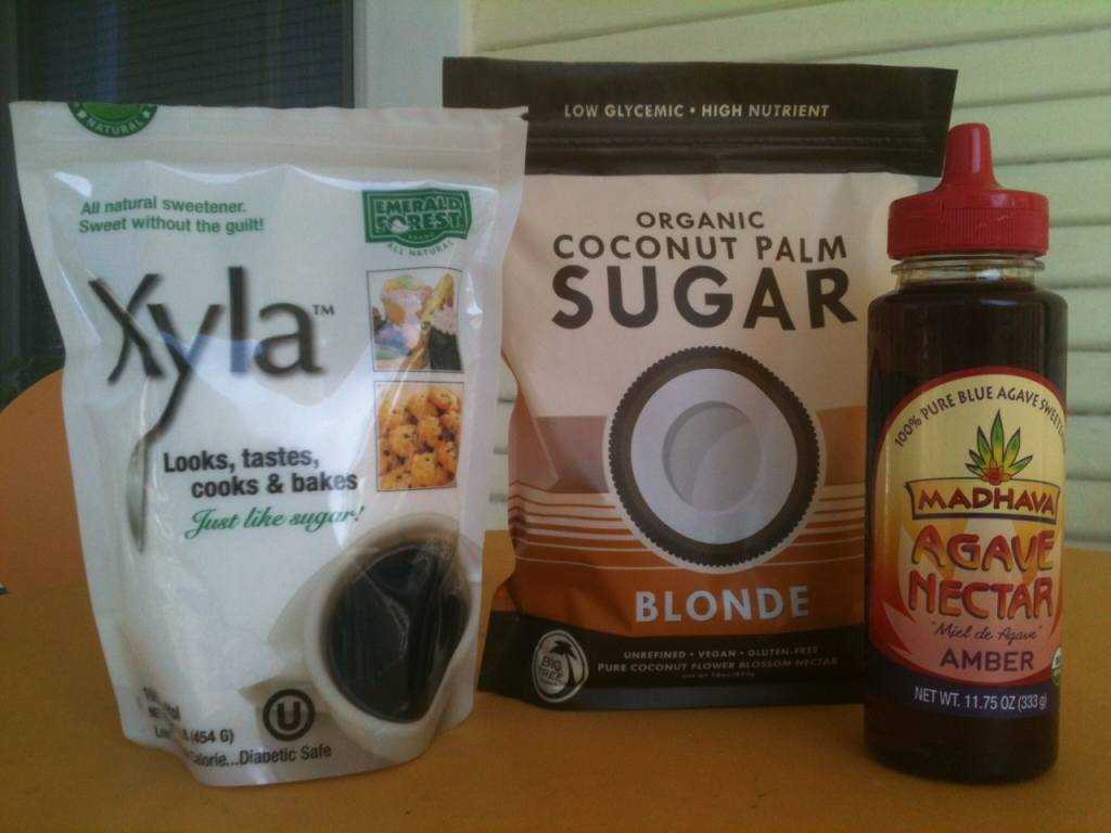 Honey, Maple Syrup, Xylitol, Coconut Palm Sugar, Stevia ... all Natural Sweeteners