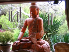 Peaceful cross-legged seated Buddha