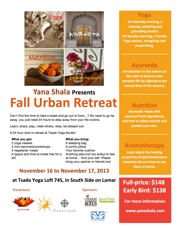 Yana Shala Fall Urban Retreat