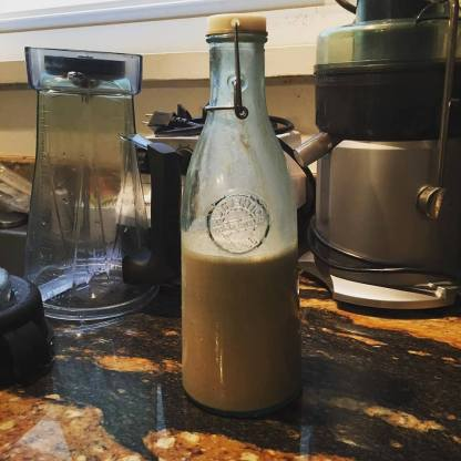 Homemade nut milk made with my Vitamix